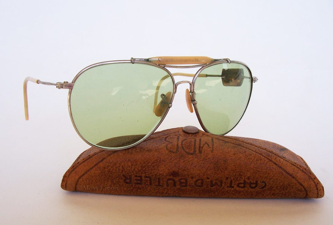 Combat Used AN6531 WWII Aviator Sunglasses – But Who was Captain M.D. Butler?