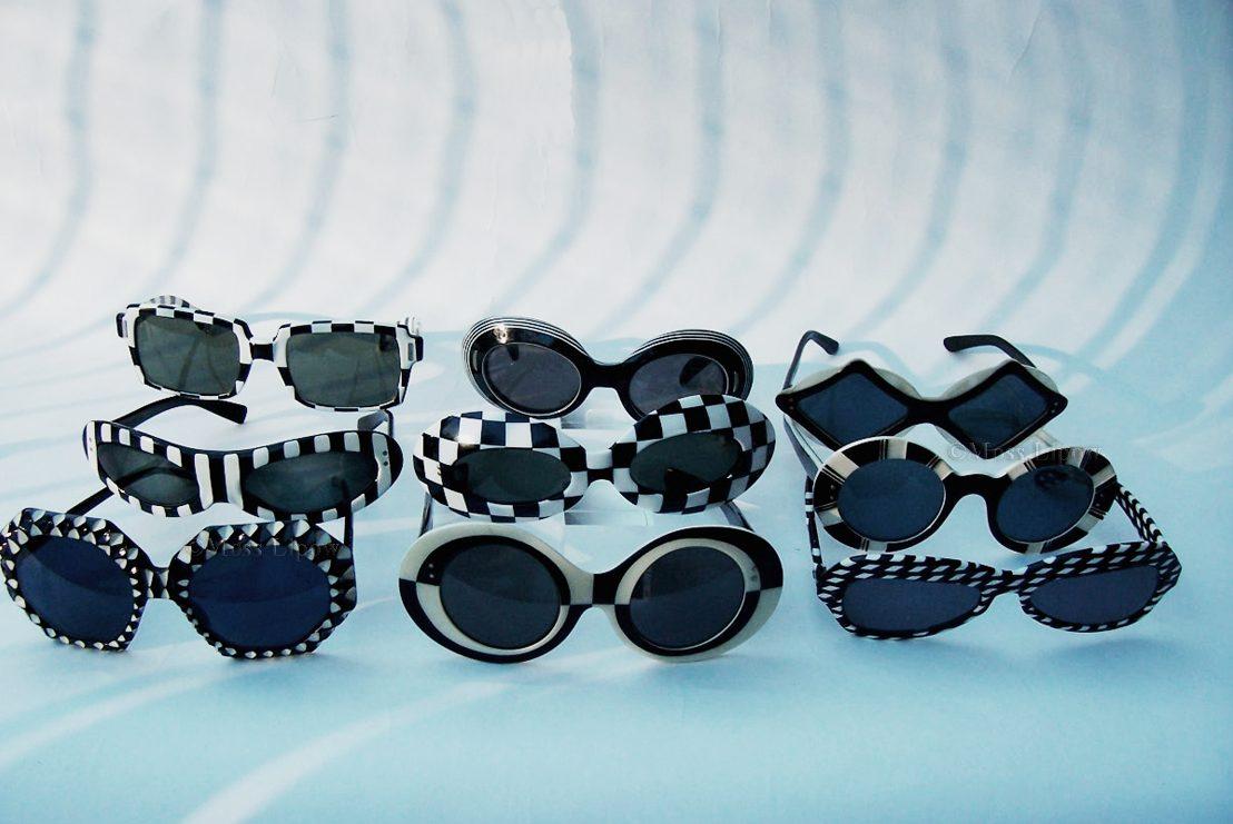 1960s Op-Art Sunglasses