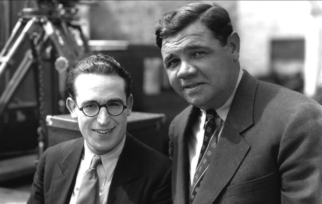 Babe Ruth, Harold Lloyd, His Eyeglasses & New York City star in Speedy