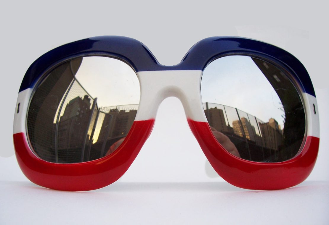 Vintage Red White and Blue Sunglasses by Eyewear's Best Unknown Designer